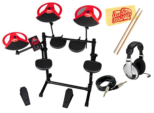 Ddrum Dd Beta Compact 5-Piece Electronic Drum Kit Bundle With Headphones, Instrument Cable, Drumsticks, And Polishing Cloth