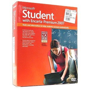 Microsoft Student w/Encarta Premium 2007 Software - Improve Grades with a Full Suite of Homework Tools!