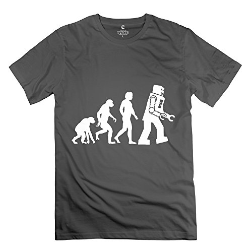 Ruifeng Man Human Evolution Futurama Robot Evolution Geek T-Shirt