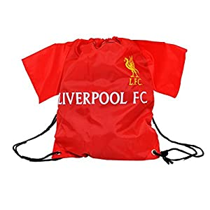Liverpool FC Shirt Shape Sports Red Drawstring Gym Bag by Official Football Merchandise