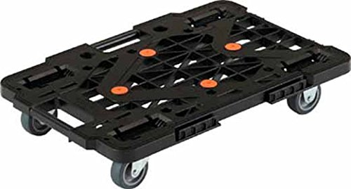 TRUSCO(トラスコ) 連結樹脂平台車 ルートバン ブラック 515x385 メッシュタイプ MPK500JBK