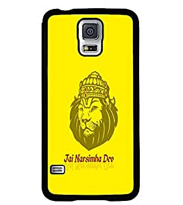 Fuson Premium Jai Narsimha Dev Metal Printed with Hard Plastic Back Case Cover for Samsung Galaxy S5 Mini