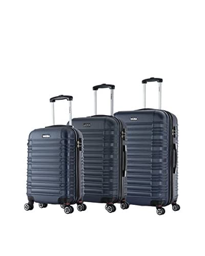 InUSA New York 3-Piece Hardside Luggage Set, Navy Blue