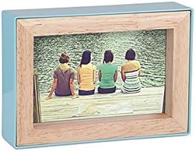 Umbra 313264-522 Fotoblock Cadre Photo Naturel/Surf 13,91 x 18,99 x 4,01 cm