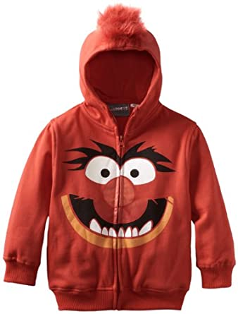 Disney Boys 8-20 Muppet Character Hoodie, Red, Small