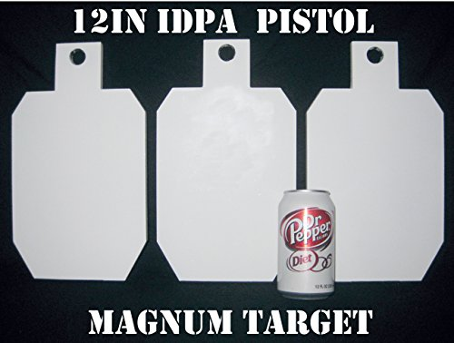 12in.Tall IDPA/ISPC Pistol Targets - 3/8in. Steel Targets - 3pc. Metal Plate Set (Magnum Target compare prices)