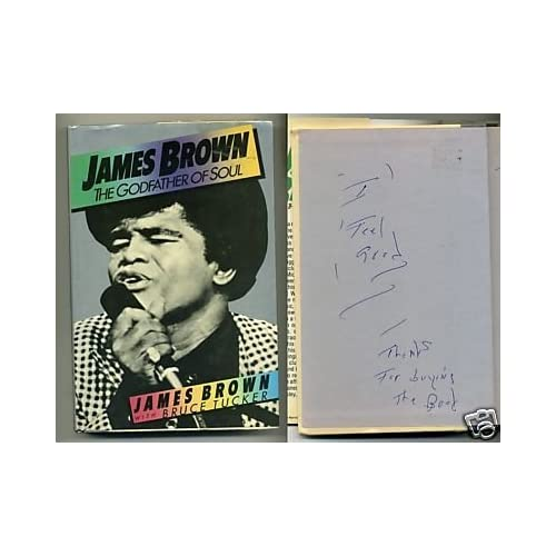 James Brown Godfather of Soul Music Signed Autograph Book