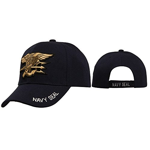 Navy Seal -Special Military Unit Uniform Style Baseball Cap Hat Black w/ High-Density 3D Embroidery of Logo and Lettering (Seal Cap compare prices)