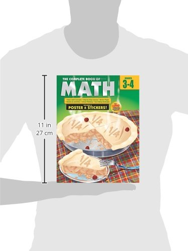 The Complete Book of Math, Grades 3-4 [With Poster]