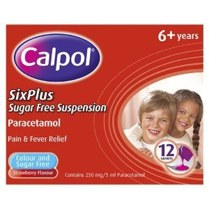 Calpol Six Plus Sachets Sugar Free 250mg