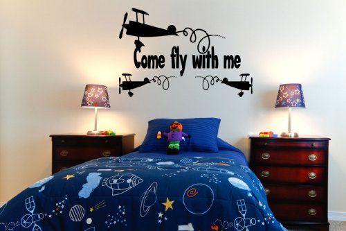 Come Fly With Me Boys Bedroom Wall Sticker front-192372