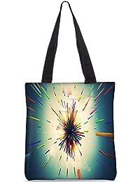 Snoogg Abstract Amazed Design Digitally Printed Utility Tote Bag Handbag Made Of Poly Canvas