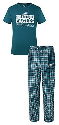 Philadelphia Eagles NFL Medalist Men's T-shirt & Flannel Pajama Pants Sleep Set