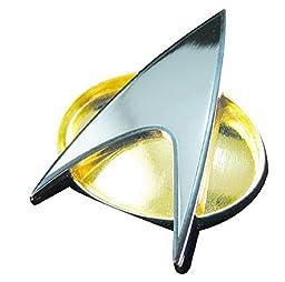 Sunshine Free Shipping (4 Pcs/lot) Star Trek Starfleet Division Old Ver. Badge Command/engineering/science/medical Insignia Brooch Pins (Communicator)