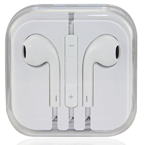Sino Newest Stylish In-Ear 3.5Mm Earphone Earbuds Headset Headphone W/ Remote Mic For Iphone 5 5S 4G 4S (White)