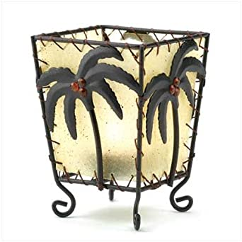 Tropical Palm Votive Holder - Style 12335