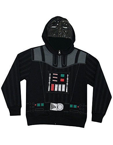 Unknown Unisex-child Star Wars Darth Vader Movie Zip Up Mask Costume Hoodie