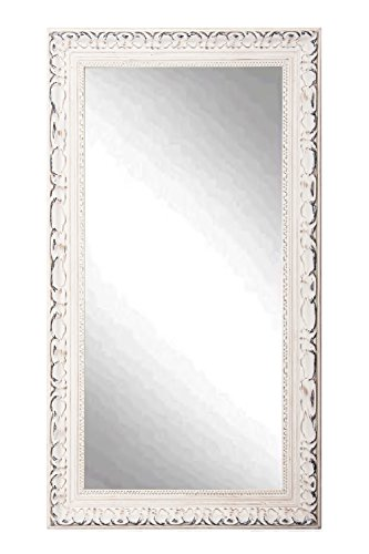 American Made Rayne French Victorian White 30.5 x 65.5 Floor Mirror 0
