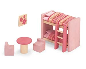 Pintoy Dolls House Wooden Accessory set - Children's Bedroom