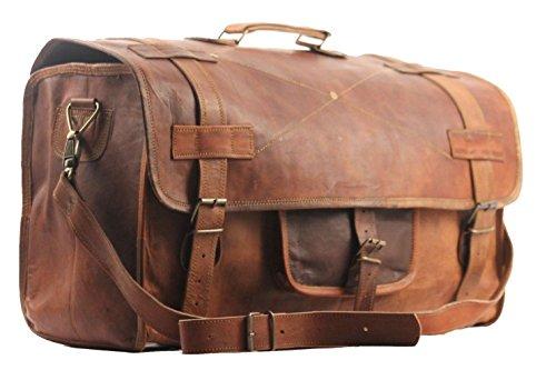 SBazar stile vintage, da uomo, per bagagli a mano, weekend, sport/palestra, 50,80 cm