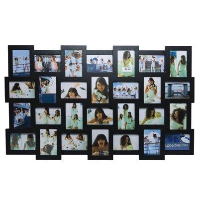 Invotis Black 28 Picture Multi Frame (H63cm x W105cm Photo Size 10cm x 15cm (4 x 6))