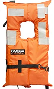 Omega Type I Commercial Off-Shore Life Vest (Orange, Youth Less than 90-Pounds.)