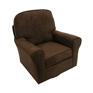 The Rockabye Glider Serenity Glider, Micro Chocolate brown