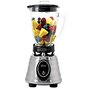 Oster BPCT02-BA0-000 6-Cup Glass Jar 2-Speed Toggle Beehive Blender, Stainless Steel