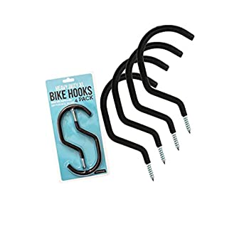Bike Hanger / Bike Hook (Pack of 4) - Heavy-Duty, Fits All Bike Types, Easy On/Off