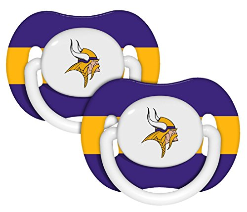Nfl Minnesota Vikings 2 Pack Pacifier front-1022566