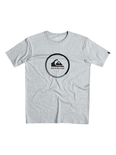 Quiksilver Men's ad Active-Maglietta a maniche corte con Logo schermo, taglia L, colore: grigio