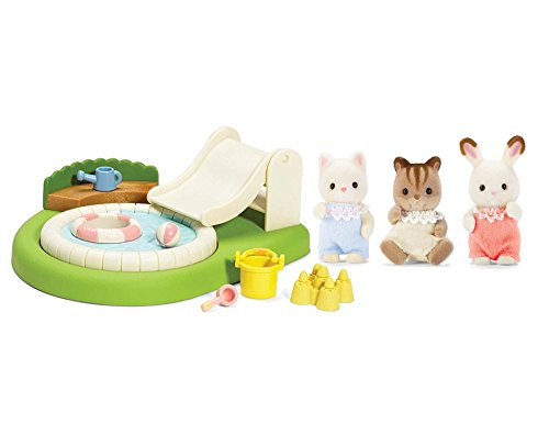 Calico Critters Baby Friends Triplets with Baby Poll and Sandbox Play Set