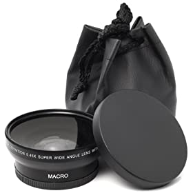 UV, Fluorescent, Polarizer Lens Bag and High Resolution 3-piece Filter Set Macro /& 2X Telephoto Lens Includes 58mm DM Optics 0.45X Wide Angle Lens For The Nikon 50mm Lens Caps 55-300mm For Any Of These Nikon D5100 D5000 D7000 D700 D3100 D3000 D90 SL