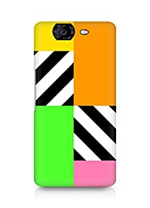 Amez designer printed 3d premium high quality back case cover for Micromax Canvas Knight A350 (Colorful Squares)