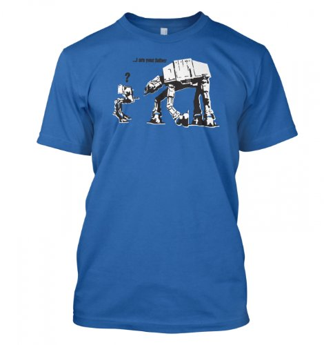 Something Geeky PP – I Am Your Father Banksy T-shirt – Inspired By Star Wars  Iris Blue