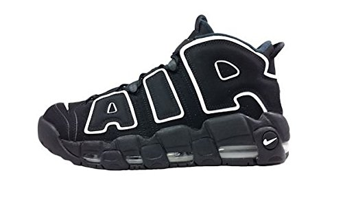 Nike Air More Uptempo GS Black White sz 4.5Y 415082-002