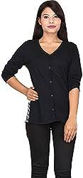 TUC Women's Plain Top (TUC_01_BlackS_L, Black, Large)