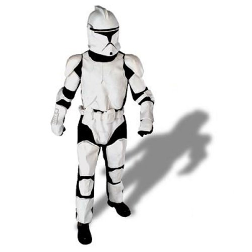 Deluxe Clone Trooper Adult Costume - Size Standard - Fits up to Jacket Size 44