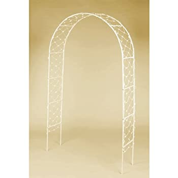 Traditional White Wedding Arch Party Decoration, Metal, 8