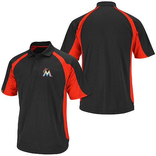 Miami Marlins Season Pass Synthetic Polo by Majestic Athletic at Amazon.com