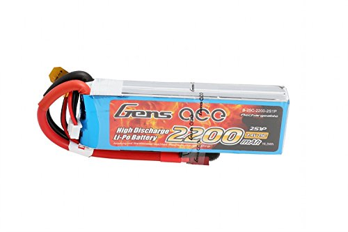 Gens ace 2200mAh 7.4V 25C 2S1P Lipo Akku Pack for FPV Racing Quadcopters diverse Racing Cars, Helikopter, Flugzeuge und Modellboote etc.