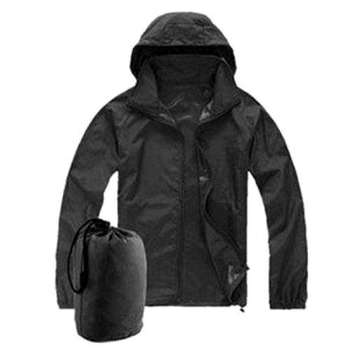 Men Women Windproof Waterproof Jacket Bike Bicycle Outdoor Sports Rain Coat Super Lightweight Front-zip Quick Dry Hoodie Raincoat UV-protect (XL) (Fishing Jacket Waterproof compare prices)