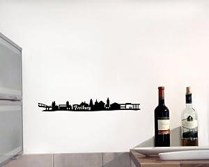Wandtattoo Freiburg Skyline Wandaufkleber schwarz 30x4,3cm