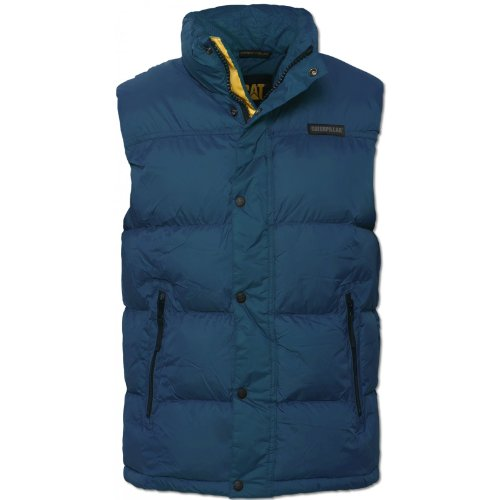 Caterpillar Mens Seaport 2322023 Gilet High Collar Popper Buttons Padded NEW Seaport XX-Large