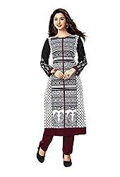 Aarvi Women's Cotton Unstitched Kurti Material-CVK023