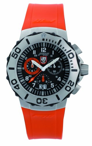 Luminox LU9129 F-16 Fighting Falcon Orange Chrono