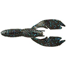 Big Bite Baits Swimming Craw Lures-Pack Of 6 (Black Blue Flake)