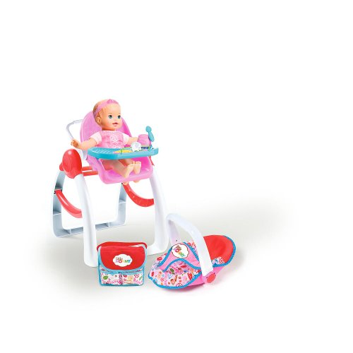 Little Mommy 3-In-1 Highchair With Diaper Bag Carrier And Doll