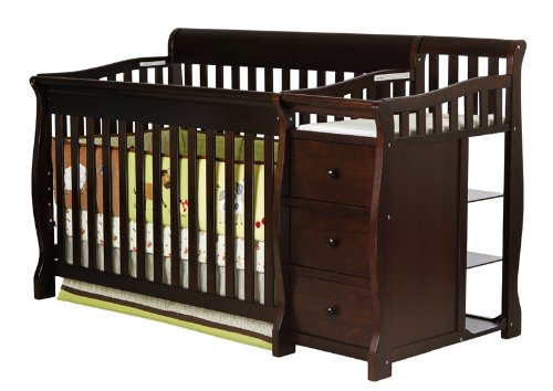 Dream On Me 4 in 1 Brody Convertible Crib with Changer, Espresso