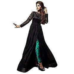 Aagaman Fashion Net Semistitched Salwar Suit (AFJKN634B_Navy Blue)